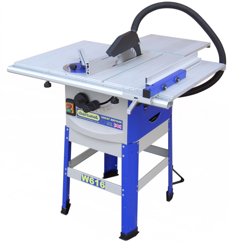 W616 10'' Table Saw with floorstand & side extensions